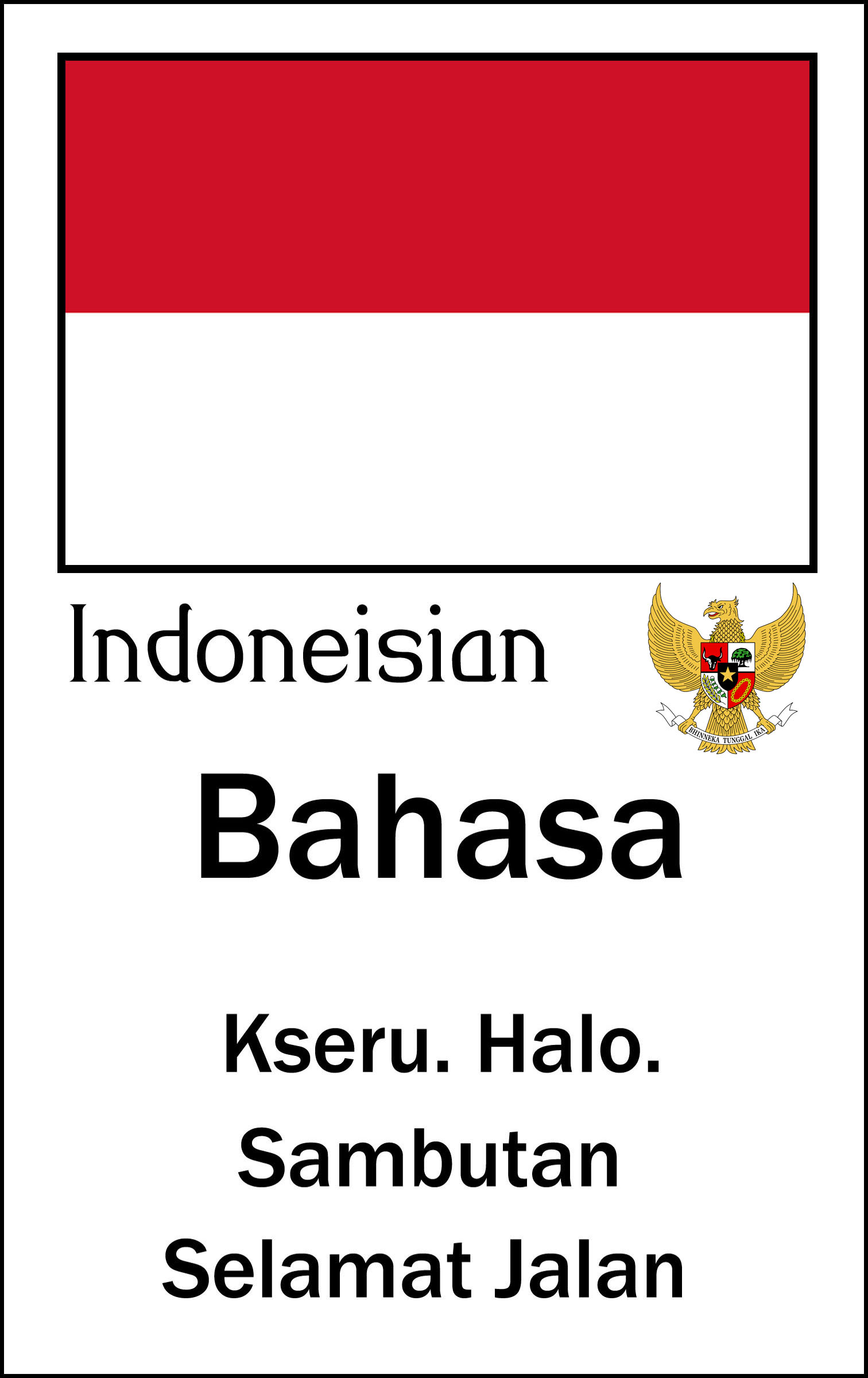 the indonesian language Indonesian (bahasa indonesia [baˈhasa indoneˈsia]) is the official language of indonesiait is a standardized register of malay, an austronesian language that has been used as a lingua franca in the multilingual indonesian archipelago for centuries indonesia is the fourth most populous nation in the world of its large population, the majority speak indonesian, making it one of the most.