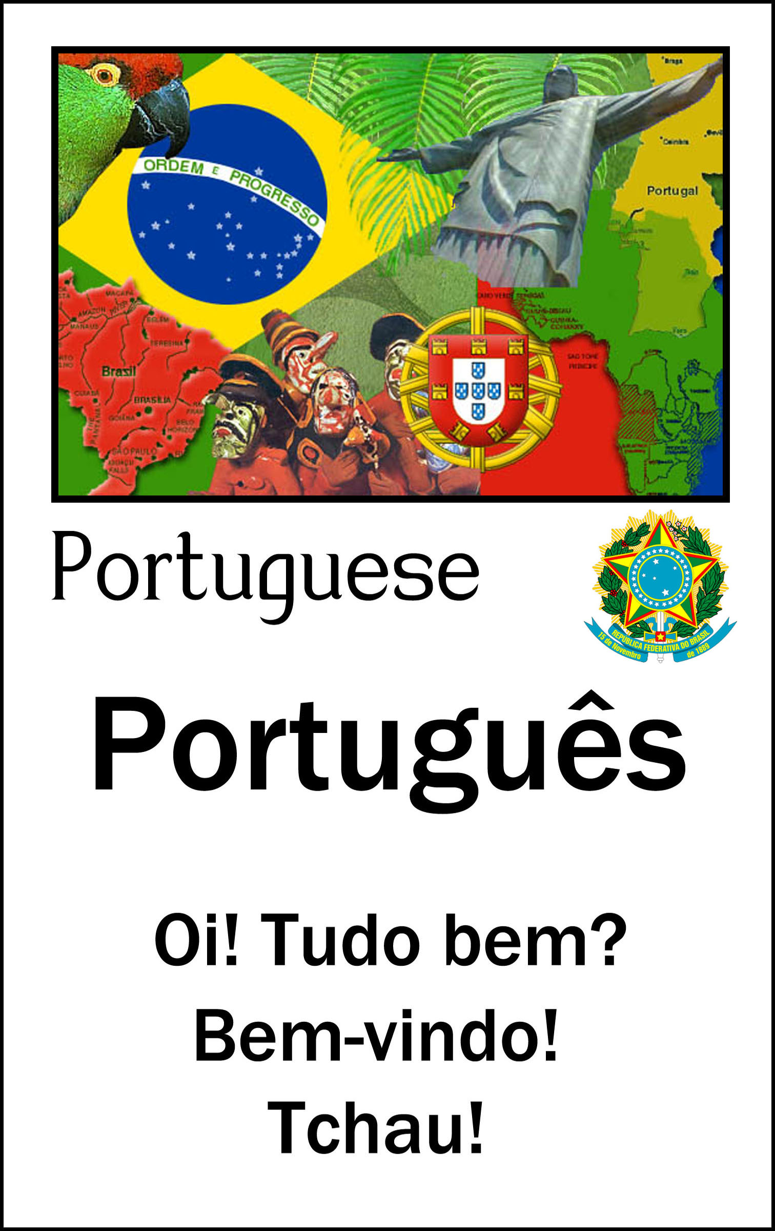 how to say language in portuguese