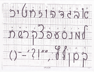 script hebrew letters